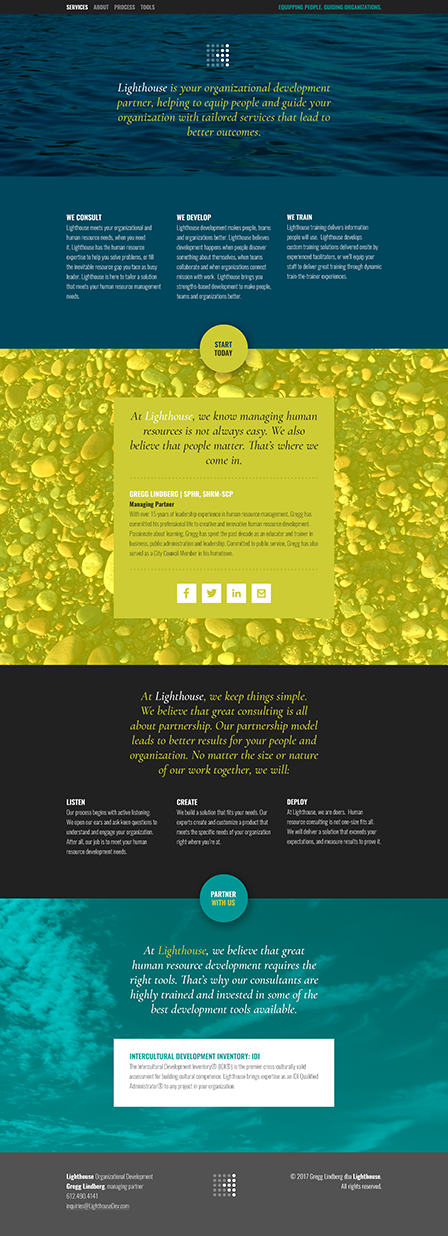 Case Study Image: Lighthouse Organizational Development website interface