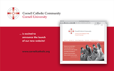 Case Study Image: Cornell Catholic Communities postcard