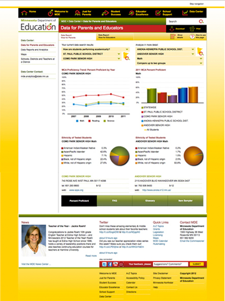 Case Study Image: Minnesota Department of Education website interface
