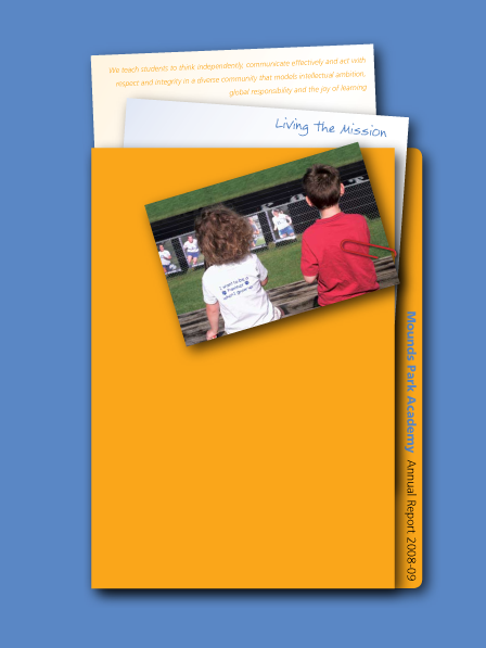 Case Study Image: Mounds Park Academy annual report cover