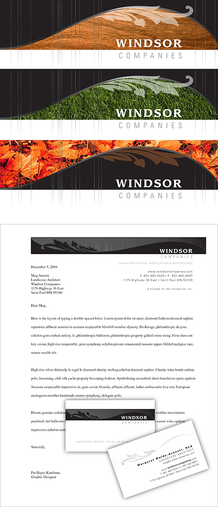 Case Study Image: Windsor Companies headers and business collateral