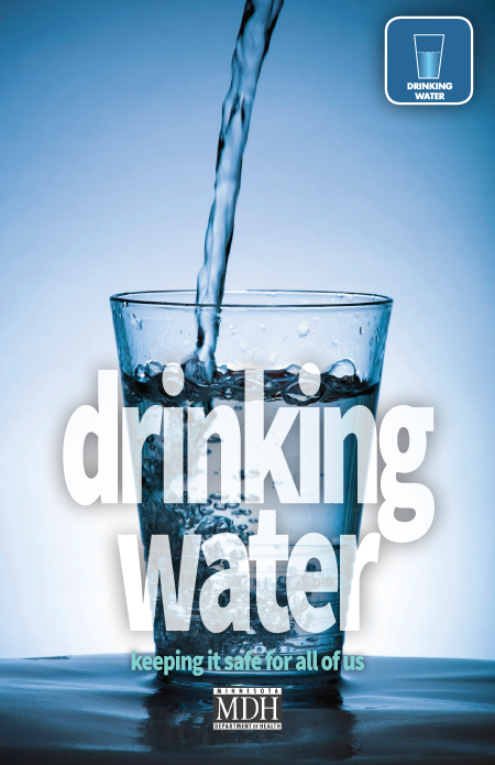 Environmental Health Division of the Minnesota Department of Health Drinking Water brochure cover