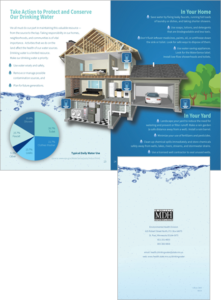 Environmental Health Division of the Minnesota Department of Health Drinking Water brochure
