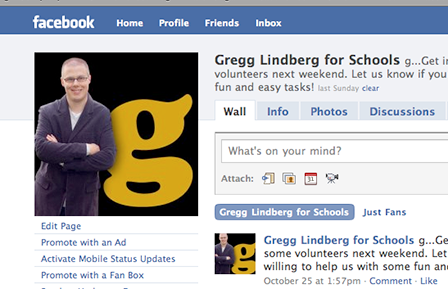 Case Study Image: Gregg Lindberg for School Board social media branding