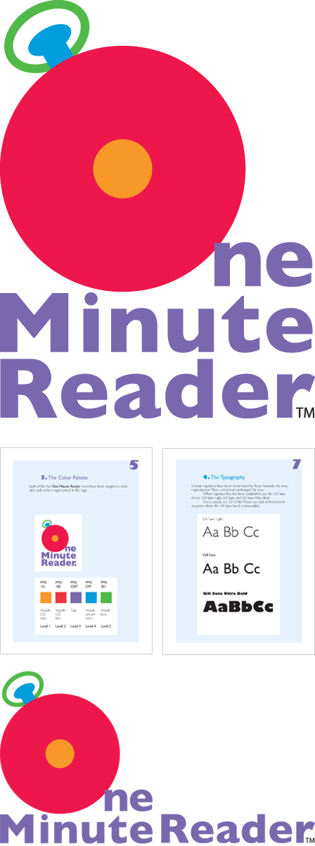 Case Study Image: Read Naturally, Inc. One Minute Reader logo and brand guidelines