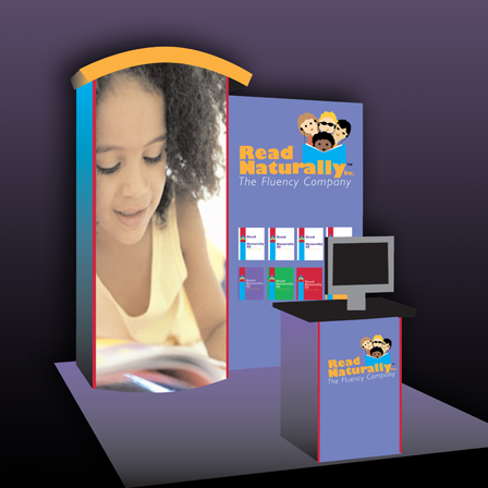 Case Study Image: Read Naturally, Inc. One Minute Reader conference display