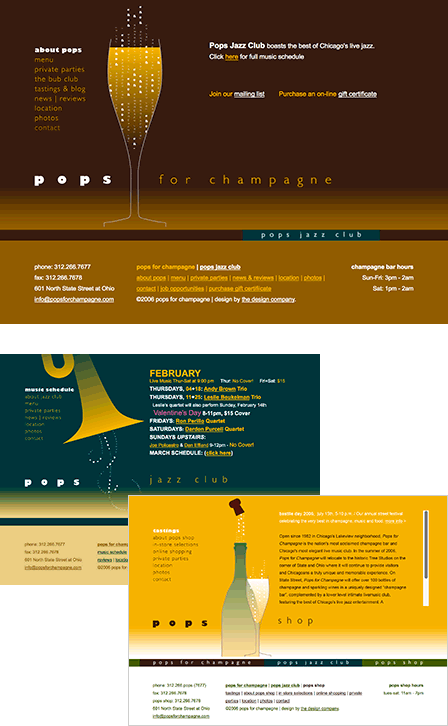 Case Study Image: Pops for Champagne website interface