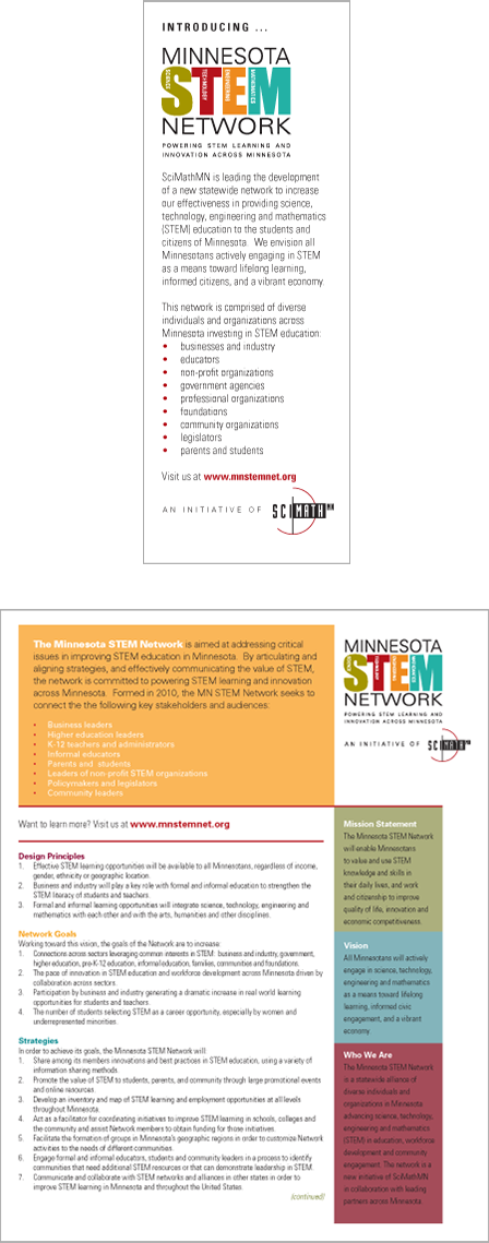 Case Study Image: Minnesota STEM Network state fair print collateral