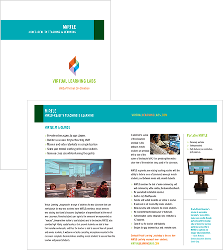 Case Study Image: Virtual Learning Labs print collateral