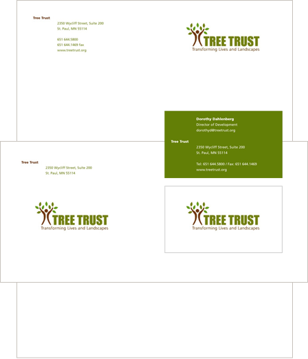 Case Study Image: Tree Trust branding collateral