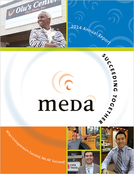 Case Study Image: Meda annual report cover