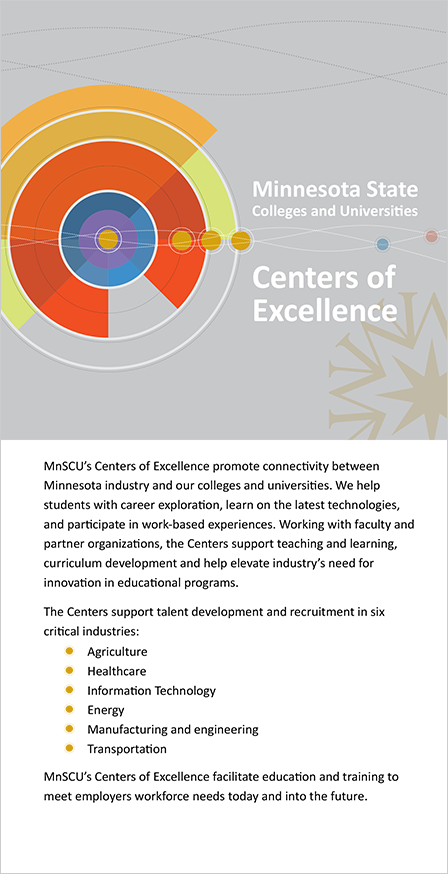 Case Study Image: Minnesota Colleges and Universities (MnSCU) brochure