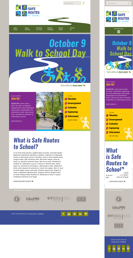 Case Study Image: Minnesota Safe Routes to School website interface