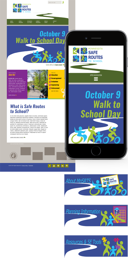 Case Study Image: Minnesota Safe Routes to School (MnSRTS) website interface