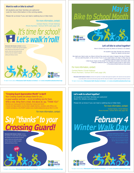 Case Study Image: Minnesota Safe Routes to School (MnSRTS) posters