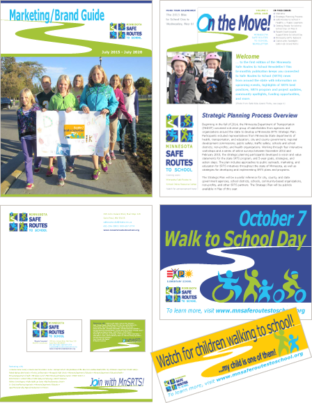 Case Study Image: Minnesota Safe Routes to School (MnSRTS) print collateral